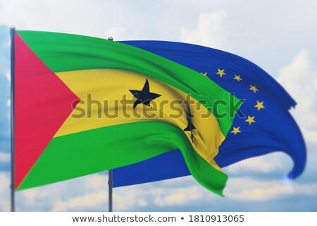 European Union and Sao Tome and Principe Flags  Stock photo © Istanbul2009