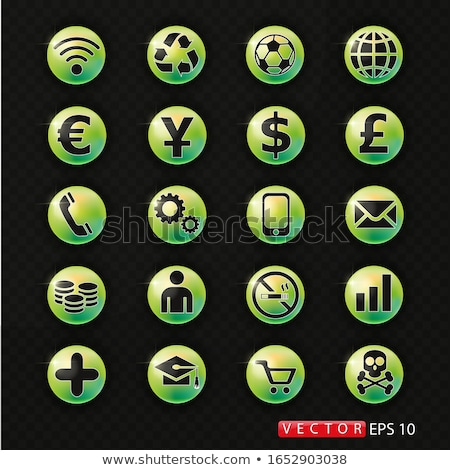 seo internet sign blue vector button icon design set 10 stock photo © rizwanali3d