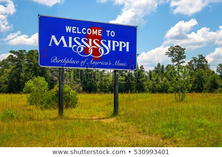 Welcome to Mississippi sign Stock photo © AndreyKr