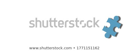 Triomf vermist stukken heldere groene Stockfoto © tashatuvango