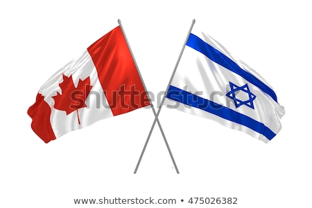 Canada and Israel Flags Stock photo © Istanbul2009