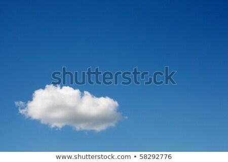 Witte pluizig wolk blauwe hemel groot Stockfoto © frannyanne