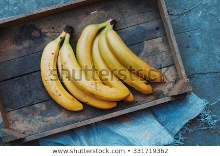 banán · fa · asztal · citromsárga · asztal · fény · fa - stock fotó © stevanovicigor