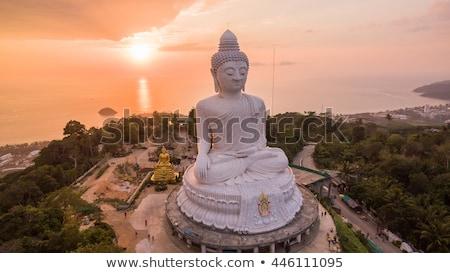 nagy · Buddha · Phuket · márvány · szobor · égbolt - stock fotó © smithore