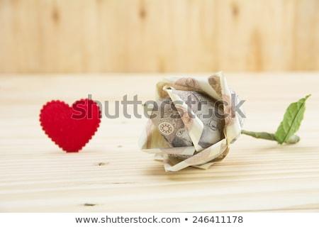 Virág bankjegy összehajtva felajánlás buddhista templom Stock fotó © smithore