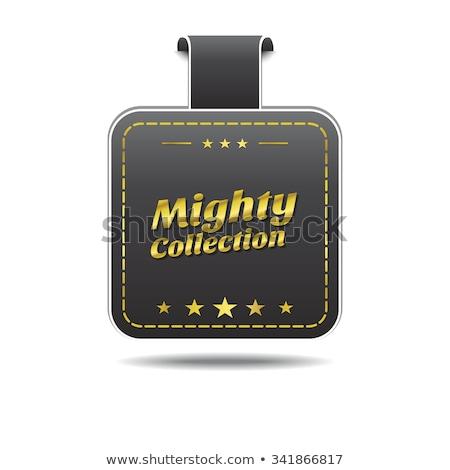 Mighty Collection golden Vector Icon Design Stock photo © rizwanali3d