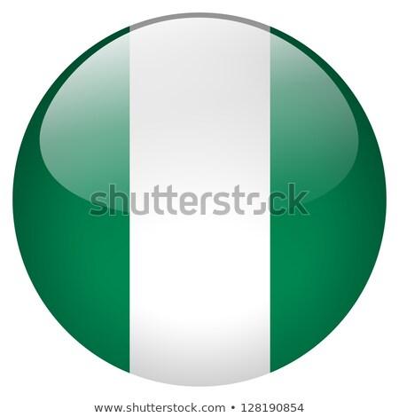 Round sticker with flag of nigeria Stock photo © MikhailMishchenko