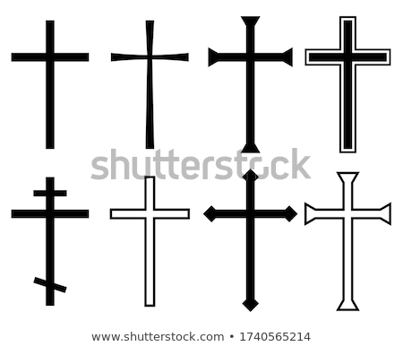 Silver christian crosses in different designs  Stock photo © shawlinmohd