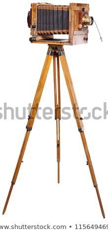 vintage retro camera on a tripod stock photo © master1305