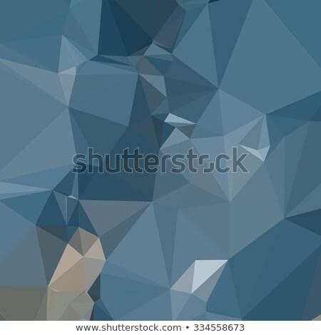 霜 青 抽象的な 低い ポリゴン スタイル ストックフォト © patrimonio