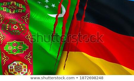 Németország Türkmenisztán zászlók puzzle izolált fehér Stock fotó © Istanbul2009