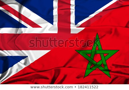 イギリス モロッコ フラグ パズル 孤立した 白 ストックフォト © Istanbul2009