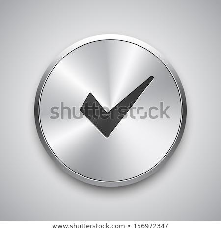 Kalkan imzalamak kırmızı vektör ikon dizayn Stok fotoğraf © rizwanali3d