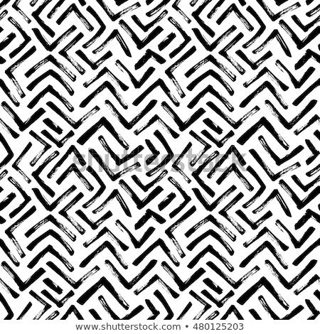монохромный · рисованной · бесшовный · шаблон · вектора - Сток-фото © TRIKONA