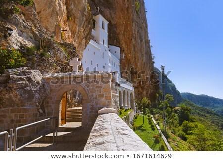 горные · монастырь · гор · Черногория · лес · природы - Сток-фото © vlad_star