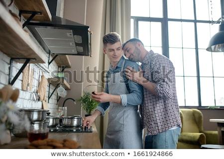 счастливым мужчины гей пару Сток-фото © dolgachov