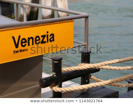 san marco water bus stop sign stock photo © andreykr