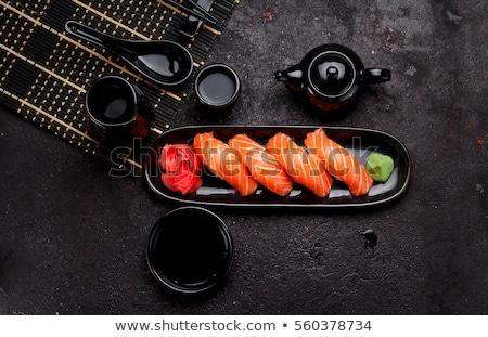Japonais cuisine riz fruits de mer grand assortiment Photo stock © sveter