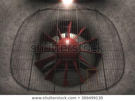 Gigant wiatr tunelu fan 3D obraz Zdjęcia stock © idesign