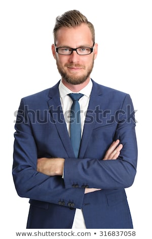 businessman tied up on white background stock photo © zurijeta