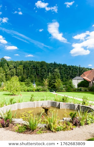 cistercian monastery with a garden in zwettl lower austria aus stock photo © phbcz