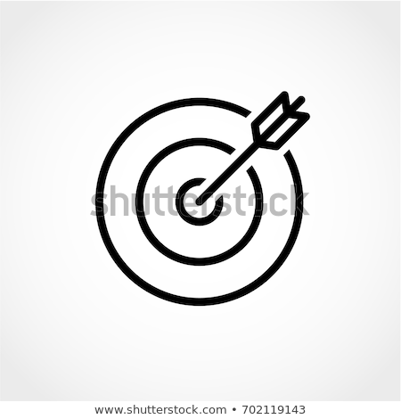 target board and arrow line icon stock photo © rastudio