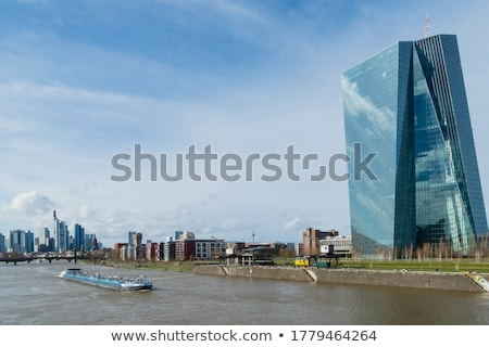 Hajó folyó fő- Frankfurt üzlet város Stock fotó © meinzahn