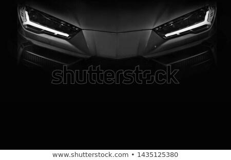 Fényes autó fényszórók ragyogó sötét másolat Stock fotó © tuulijumala