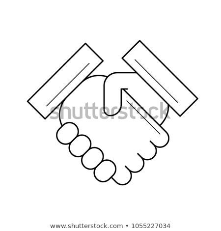 Handshake réussi immobilier transaction ligne icône Photo stock © RAStudio