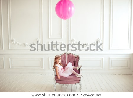 Happy children sitting on white wooden floor Stock photo © zurijeta