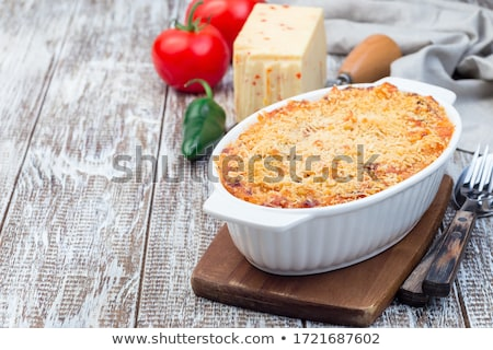 Stok fotoğraf: Makarna · makarna · füme · peynir · yemek