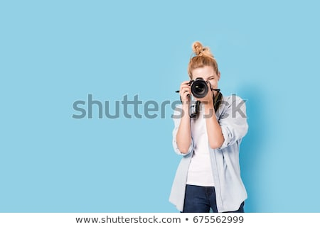 obiektyw · ręce · fotograf · projektu · technologii - zdjęcia stock © simply