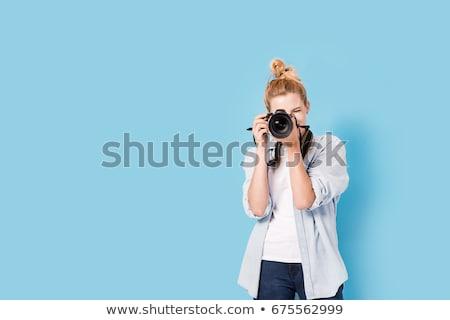 объектив · рук · фотограф · дизайна · технологий - Сток-фото © simply