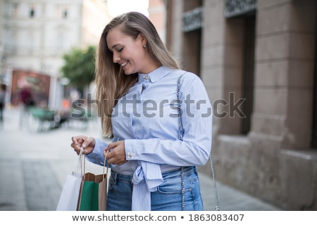 blonde woman shopping touring in Europe Stock photo © Giulio_Fornasar