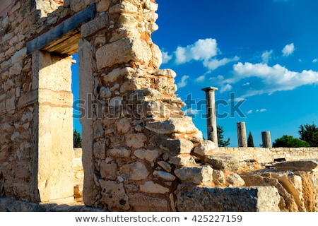 The Sanctuary of Apollo Hylates. South piller at Kourion Gate. L Stock photo © Kirill_M