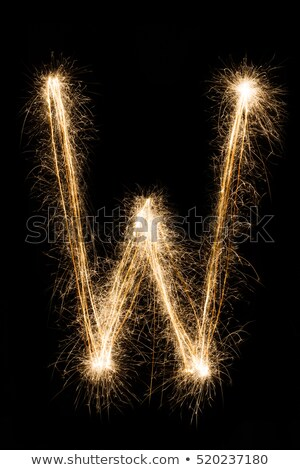 Sparkling big letters Stock photo © bluering