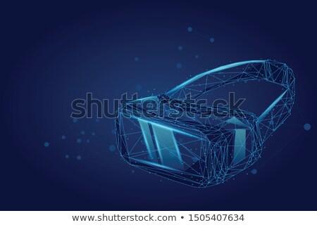 Man wijzend virtueel laag projectie technologie Stockfoto © dolgachov