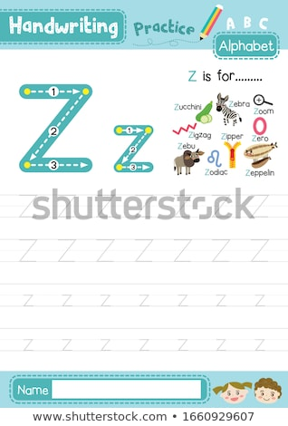 письмо z цуккини иллюстрация продовольствие дети ребенка Сток-фото © bluering