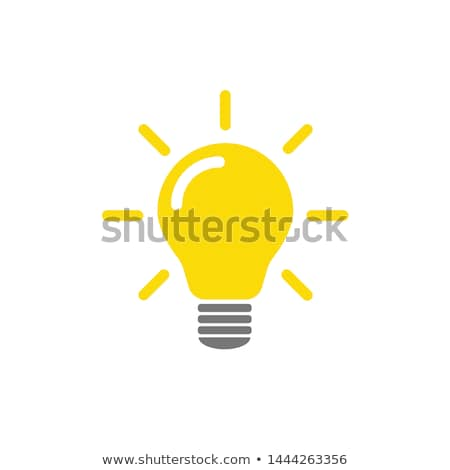 une · ampoule · rangée · design · fond · lampe - photo stock © goir