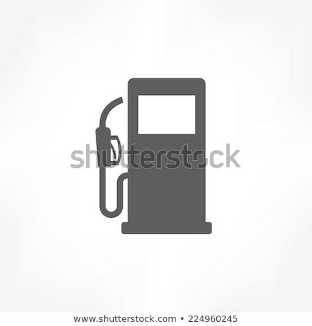 Benzinpumpa ikon illusztráció fehér olaj energia Stock fotó © nickylarson974