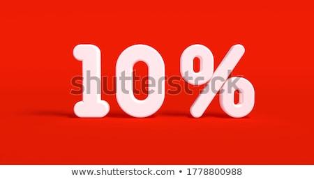fehér · tíz · százalék · izolált · 10 · pénzügy - stock fotó © oakozhan
