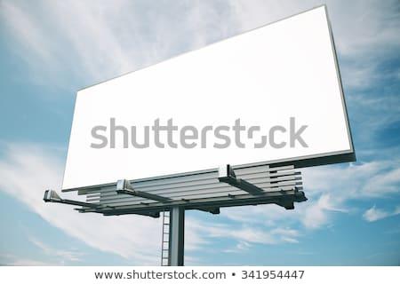 lege · witte · billboard · trottoir · business · weg - stockfoto © 5xinc