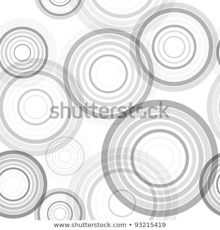 Vetor sem costura preto e branco concêntrico círculos padrão Foto stock © CreatorsClub