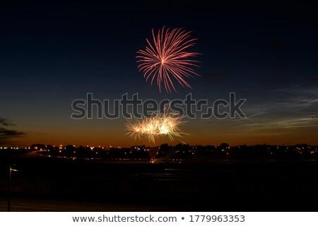 Céu noite ilustração fogo fundo Foto stock © bluering