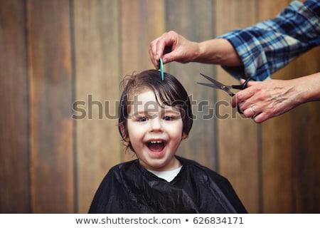 Little kid in barbershop Stock photo © bezikus
