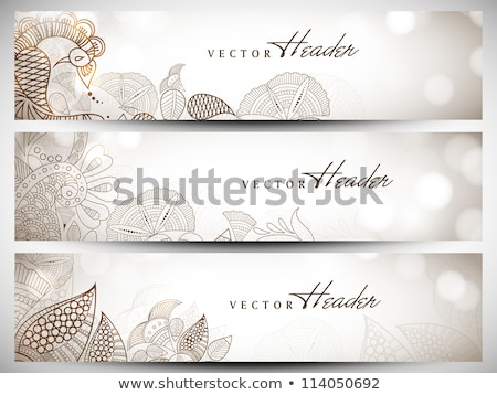 set of beautiful floral banners eps 10 stock photo © beholdereye