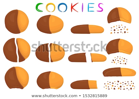 fresh natural homemade crispy cookies stock photo © dariazu