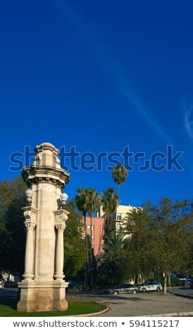 Alameda Albereda column in Valencia Stock photo © lunamarina