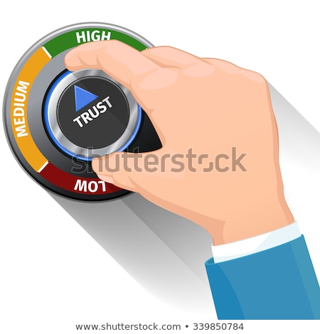 Illustration of Service Level knob button switch. High confidence level concept. Technical design, m Stock photo © tussik