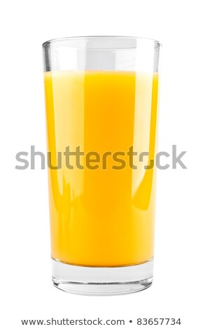 Stockfoto: Vol · glas · sinaasappelsap · witte · vruchten · cool